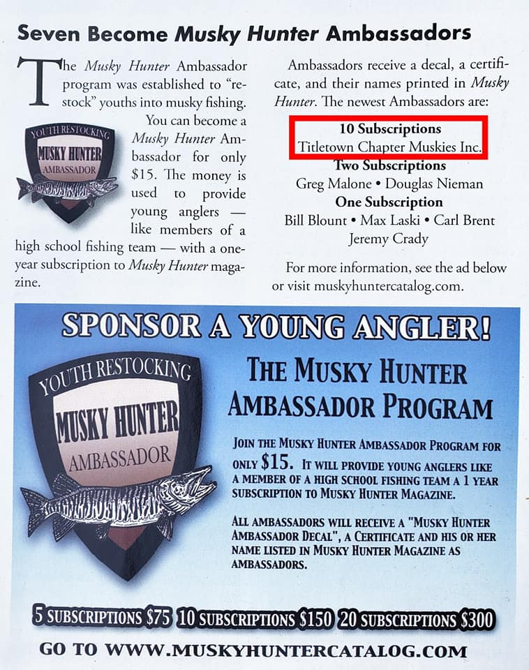 2020 Musky Ambassador Program Mag